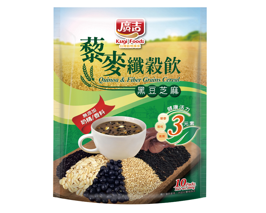 藜麥纖穀飲-黑豆芝麻 Quinoa & Fiber Grains Cereal-Black Bean & Black Sesame