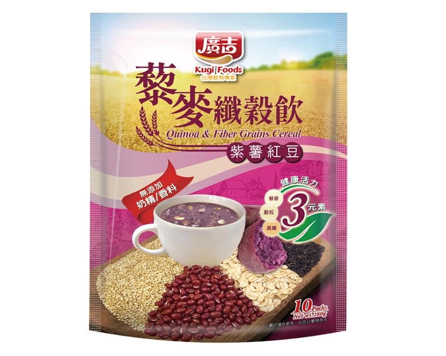 藜麥纖穀飲-紫薯紅豆 Quinoa & Fiber Grains Cereal-Purple Potato & Red Bean
